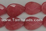 CCN2188 15.5 inches 15*20mm faceted flat teardrop candy jade beads