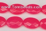 CCN2203 15.5 inches 13*18mm faceted oval candy jade beads
