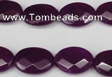 CCN2206 15.5 inches 13*18mm faceted oval candy jade beads