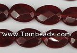 CCN2207 15.5 inches 13*18mm faceted oval candy jade beads