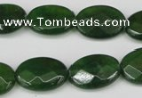 CCN2211 15.5 inches 13*18mm faceted oval candy jade beads