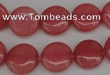 CCN2238 15.5 inches 14mm faceted coin candy jade beads wholesale