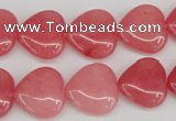 CCN2240 15.5 inches 15*15mm heart candy jade beads wholesale