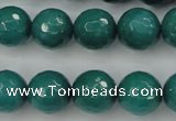 CCN2283 15.5 inches 14mm faceted round candy jade beads wholesale