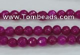 CCN2294 15.5 inches 6mm faceted round candy jade beads wholesale