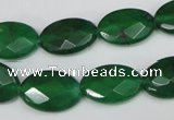 CCN230 15.5 inches 12*18mm faceted oval candy jade beads