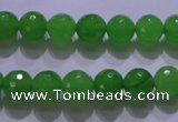 CCN2301 15.5 inches 10mm faceted round candy jade beads wholesale