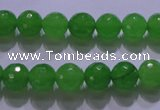CCN2302 15.5 inches 12mm faceted round candy jade beads wholesale