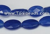 CCN231 15.5 inches 12*18mm faceted oval candy jade beads