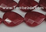 CCN2329 15.5 inches 18*25mm faceted flat teardrop candy jade beads
