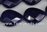 CCN2335 15.5 inches 18*25mm faceted flat teardrop candy jade beads