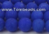 CCN2473 15.5 inches 10mm round matte candy jade beads wholesale