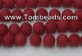 CCN2529 15.5 inches 4mm round matte candy jade beads wholesale