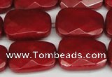 CCN2632 15.5 inches 18*25mm faceted trapezoid candy jade beads