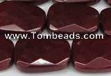 CCN2633 15.5 inches 18*25mm faceted trapezoid candy jade beads