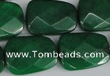 CCN2639 15.5 inches 18*25mm faceted trapezoid candy jade beads