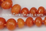 CCN2646 15.5 inches 5*8mm - 12*16mm faceted rondelle candy jade beads