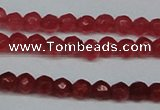 CCN2812 15.5 inches 3mm tiny faceted round candy jade beads