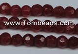 CCN2821 15.5 inches 4mm tiny faceted round candy jade beads