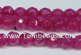 CCN2830 15.5 inches 5mm faceted round candy jade beads