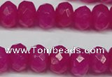 CCN2871 15.5 inches 5*8mm faceted rondelle candy jade beads