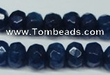 CCN2877 15.5 inches 5*8mm faceted rondelle candy jade beads