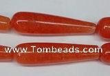 CCN2880 15.5 inches 10*40mm teardrop candy jade beads