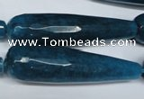 CCN2900 15.5 inches 12*50mm faceted teardrop candy jade beads