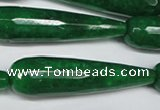 CCN2901 15.5 inches 12*50mm faceted teardrop candy jade beads