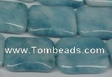 CCN2942 15.5 inches 18*25mm rectangle candy jade beads wholesale
