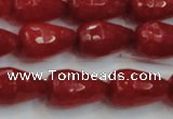 CCN3003 15.5 inches 10*15mm faceted teardrop candy jade beads