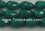 CCN3010 15.5 inches 10*15mm faceted teardrop candy jade beads