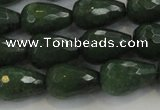 CCN3011 15.5 inches 10*15mm faceted teardrop candy jade beads