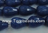 CCN3014 15.5 inches 10*15mm faceted teardrop candy jade beads
