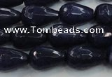 CCN3015 15.5 inches 10*15mm faceted teardrop candy jade beads
