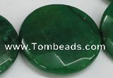 CCN309 15.5 inches 35mm faceted coin candy jade beads wholesale