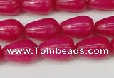 CCN3752 15.5 inches 8*12mm teardrop candy jade beads wholesale