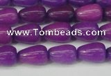 CCN3754 15.5 inches 8*12mm teardrop candy jade beads wholesale