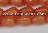 CCN3761 15.5 inches 10*14mm teardrop candy jade beads wholesale