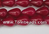 CCN3763 15.5 inches 10*14mm teardrop candy jade beads wholesale