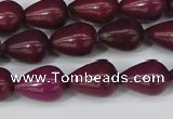 CCN3768 15.5 inches 10*14mm teardrop candy jade beads wholesale