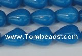 CCN3771 15.5 inches 10*14mm teardrop candy jade beads wholesale