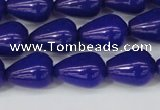 CCN3772 15.5 inches 10*14mm teardrop candy jade beads wholesale