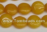 CCN3815 15.5 inches 14mm flat round candy jade beads wholesale
