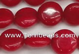 CCN3820 15.5 inches 14mm flat round candy jade beads wholesale