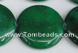 CCN3857 15.5 inches 35mm flat round candy jade beads wholesale