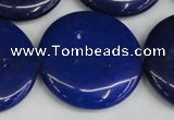 CCN3859 15.5 inches 35mm flat round candy jade beads wholesale