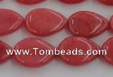 CCN3861 15.5 inches 13*18mm flat teardrop candy jade beads