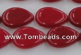 CCN3864 15.5 inches 13*18mm flat teardrop candy jade beads