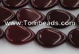 CCN3865 15.5 inches 13*18mm flat teardrop candy jade beads